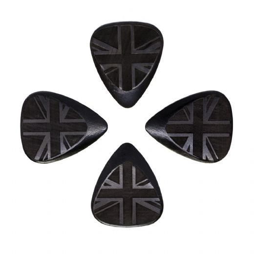 Flag Tones Union Jack African Ebony 4 Guitar Picks
